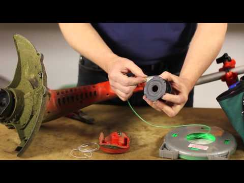 How to Replace the Line in a Black & Decker Grasshog : Lawn Care & Power Tools