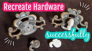 How To Recreate Hardware Successfully | Don't Replace It  #paintedfurniture #diy #furniturereno