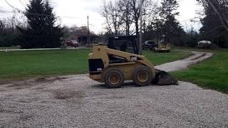 Gravel Driveway Grading Job