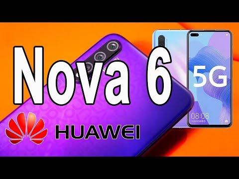 HUAWEI Nova 6/ Nova 6 (5G) - топовый процессор  Kirin 990 и продвинутая камера