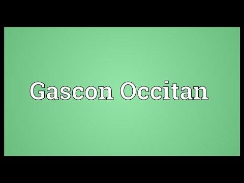 Gascon Occitan Meaning
