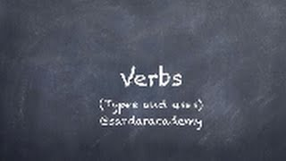 What are verbs and their types? In English and Punjabi.