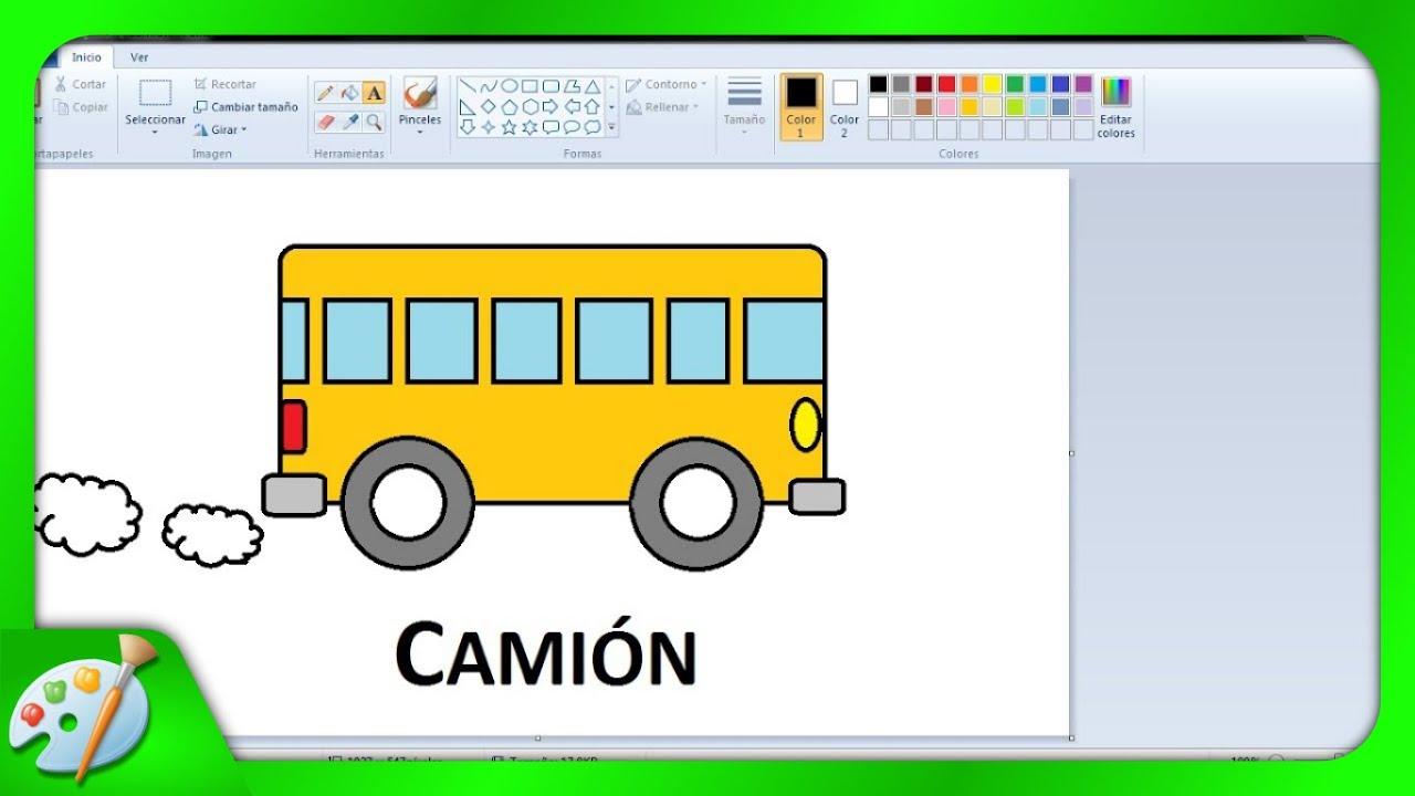 Dibujos Para Niños Con Paint: Cómo Dibujar Un Camion