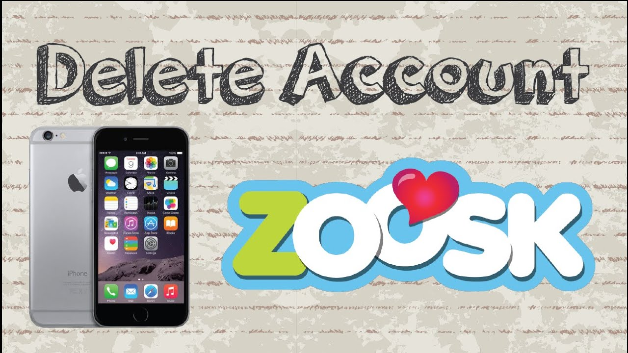 Deactivate zoosk account on app
