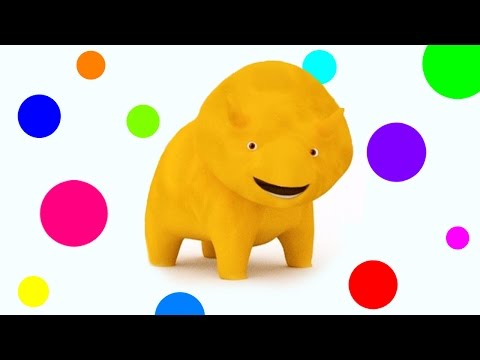 Learn with Dino the Dinosaur: ice creams, cakes, backpacks, trampolines, balls... | Learn in english