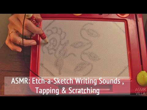 ASMR * Theme: Etch-A-Sketch * Writing Sounds * Tapping & Scratching * No Talking * ASMRVilla