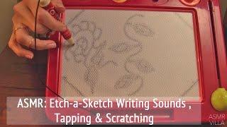 asmr theme etch a sketch writing sounds tapping scratching no talking asmrvilla