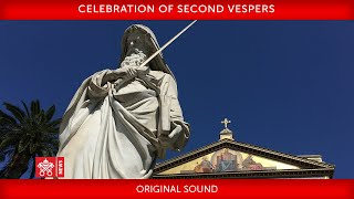 Pope Francis-Celebration of Second Vespers 2020-01-25
