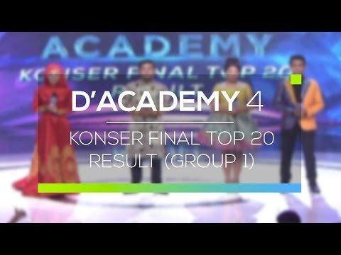 Highlight D'Academy 4  - Konser Final Top 20 Group 1 Result