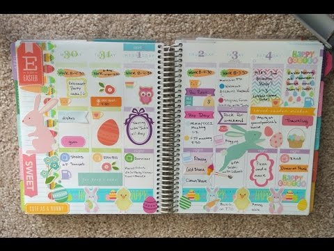 Erin Condren Life Planner Weekly Spread - March 23rd to 29th