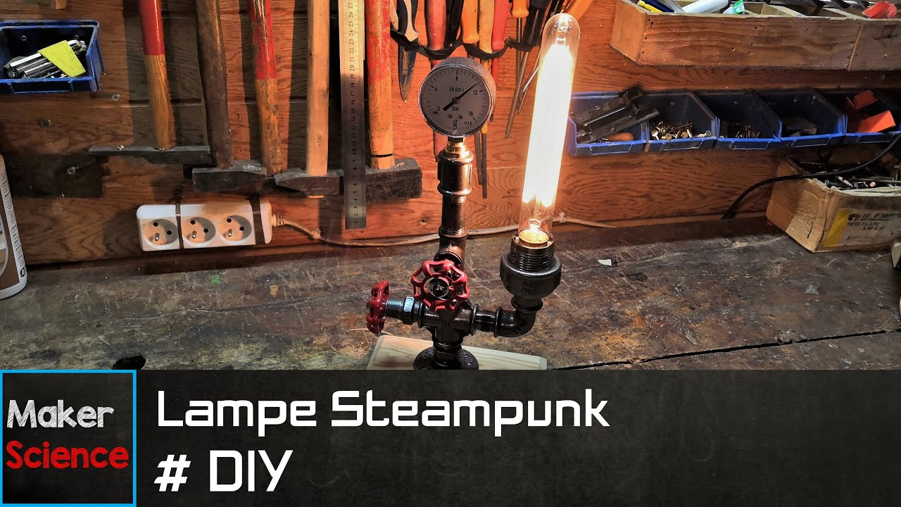 Fabriquer Une Lampe Style Industriel #diy lampe steampunk style industriel