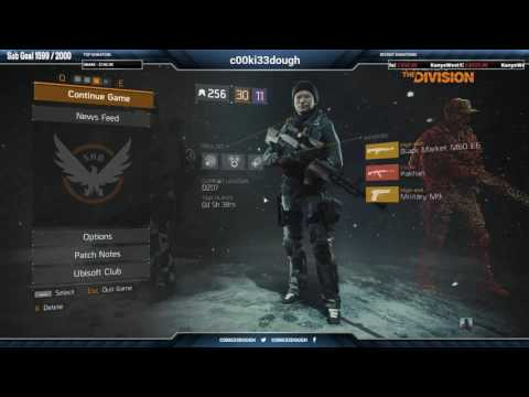 The Division - Patch 1.6 (PTS) LIVESTREAM Exploring DZ North ( 7 - 9 )