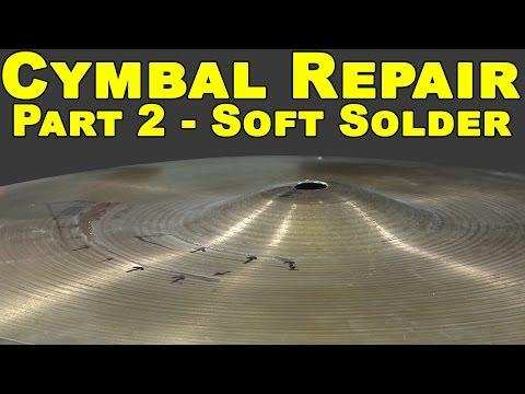 Welding Bronze Cymbals (Part 2 of 5) - Soft Solder | TIG Time