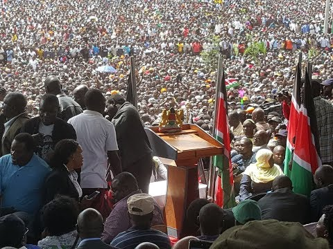 Raila Odinga speech after swearing-in at Nairobi's Uhuru Park