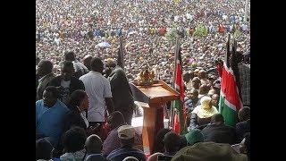 Raila Odinga speech after swearing-in at Nairobi's Uhuru Park
