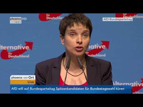 AfD-Bundesparteitag 2017: Eröffnungsrede von Frauke Petry am 22.04.2017