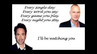 Every Breath You Take By Robert Downey Junior & Sting (with lyrics)