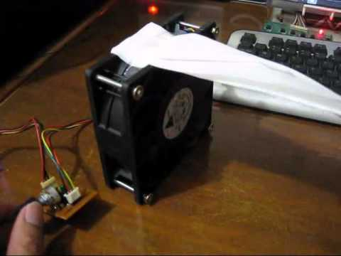 Delta TFC1212DE 3.9A Fan with homemade PWM Controller - YouTube
