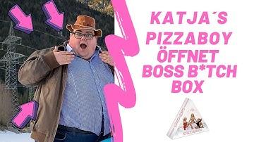 Katjas Pizzabote / Pizzaboy packt die Boss B**ch Box aus - UNBOXING - Katja Krasavice Album