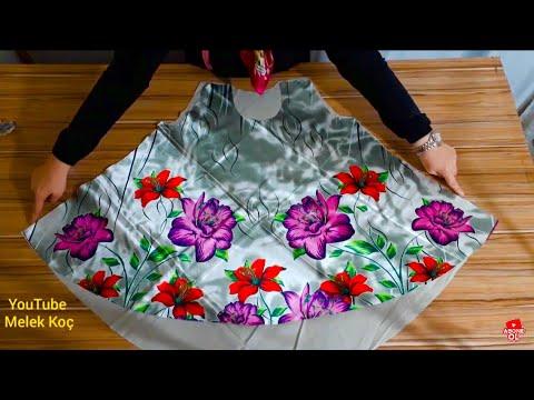 Eşarptan yazlık bluz yapımı/Scarf's recycle. Blouse making