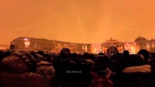 Празднование 250-летия Эрмитажа на Дворцовой площади.