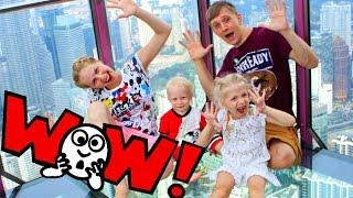 День #4 Фото на высоком здании, веселые попугаи высокая башня серия Развлекательных семейное видео