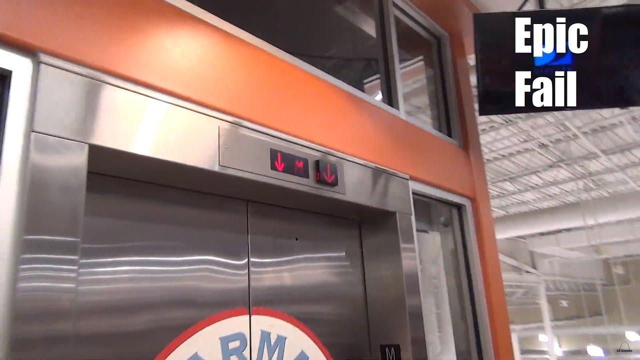 Epic Fail Glass Hydraulic Elevator @ Harris Teeter - Norfolk, VA