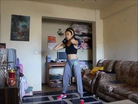 Me doing'All Around the World'workout-BodyRock Lite,4excs,415 reps total