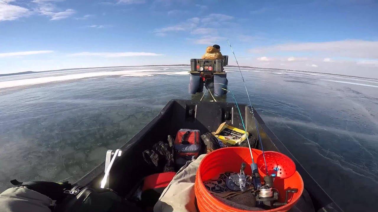 Honda atc 110 lake mendota ice fishing machine modified for Lake mendota fishing report
