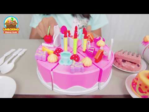 Mainan Anak Potong Potong Kue Ulang Tahun - DIY Birthday Cake - Cut Birthday Cake Toy