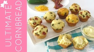 Gluten Free Jalapeno, Bacon, Cheddar Cornbread Muffins With Honey Butter
