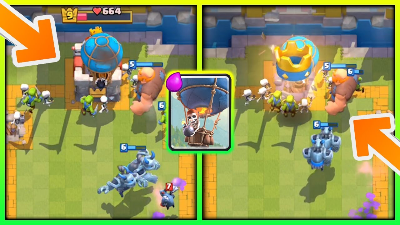Giant Balloon Deck After Update Arena 7 9 Strategy With No Legendary Cards In Clash Royale Youtube
