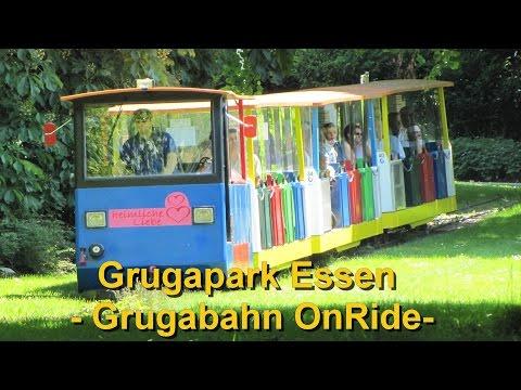 Grugapark Essen - Grugabahn - Park Eisenbahn OnRide - Park Rundfahrt Bimmelbahn