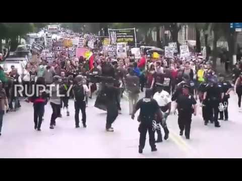 USA: New Yorkers protest against Philando Castile shooting verdict