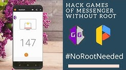 How to hack messenger game/basketball/football without root