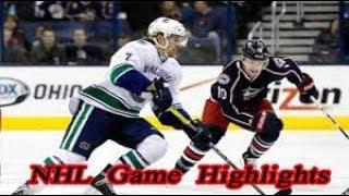 Columbus Blue Jackets vs Vancouver Canucks - 11.12. NHL Highlights Season 2018-2019