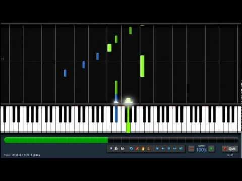 Shrek -  Fairytale - Piano Tutorial (100%) Synthesia