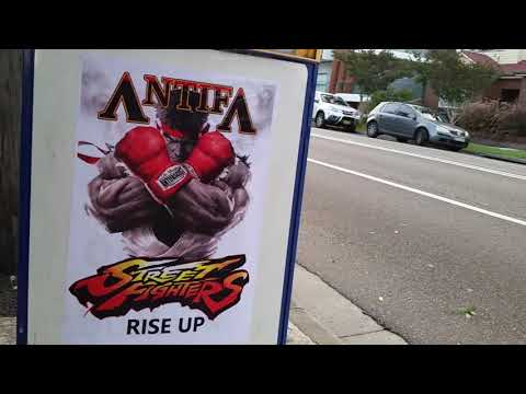 Antifa Graffiti & Street Art in Sydney 2018