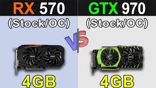 Скачать RX 570 Vs GTX 970 Stock And Overclock New Games Benchmarks