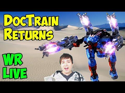 War Robots DocTrain Returns Live Gameplay 2 Hours - Win & Fail WR