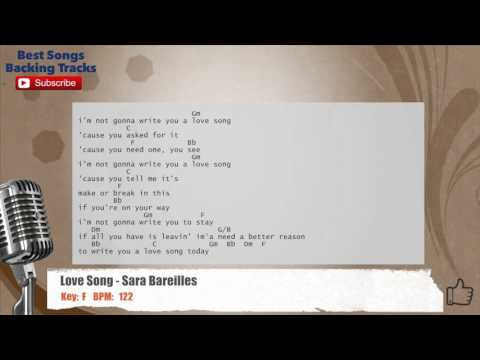 Love Song - Sara Bareilles Vocal Backing Track with chords and lyrics