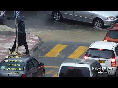 Kabylie - Algérie - Météo : Pluies diluviennes sur la ville de Tizi-ouzou