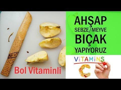 Ahşap Sebze Meyve Bıçağı Nasıl Yapılır (Bol Vitaminli Bıçak)