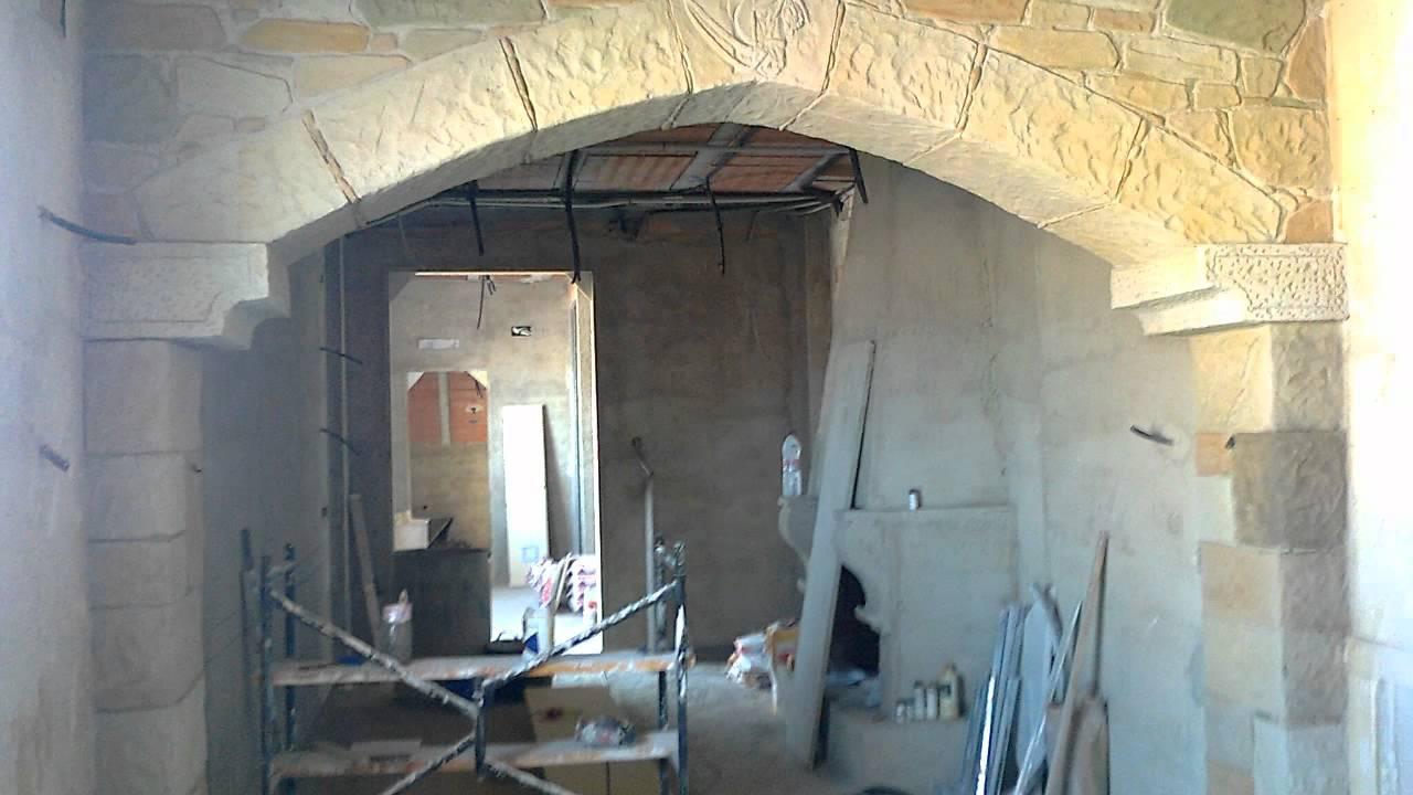 Ejecucion de arco en piedra youtube - Como se construye una chimenea ...