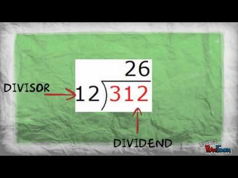 Dividend, Divisor, Quotient
