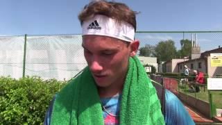 Marek Gengel po výhře ve 2. kole na turnaji Futures v Ústí n. O.