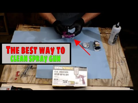 "How to clean a 4"" Harbor Freight HVLP Spray gun  Step by Step."