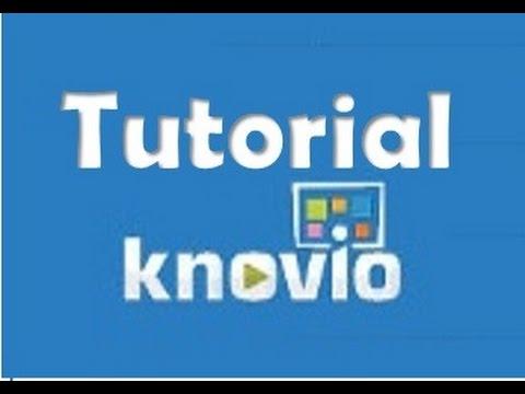 Tutorial Knovio/Como hacer una presentación con Knovio