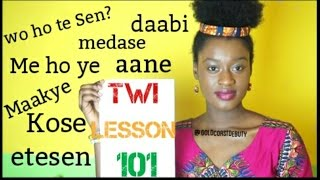 Twi (Language) Lesson 101 | #Ghana #IndependenceDay