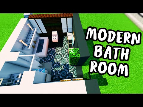 ✔ How to Build a Modern Bathroom with Mirrors!  - Modern House Tutorial #6